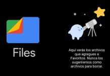 Carpeta de favoritos en Files de Google tutorial